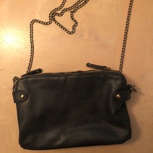 Silence + Noise Black Crossbody w Copper Chain